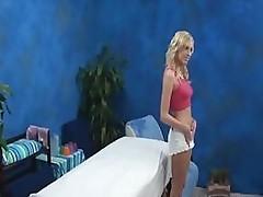 Hot Blonde Seduced on Massage Table