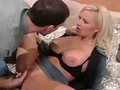 Shaved Stacy Valentine is fingered by Mark Davis