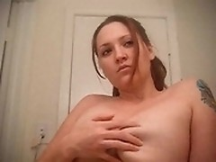 Big breasted honey posing for the camera