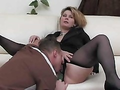 Mature Fucked On Couch