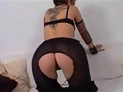Frisky Spanish sweetie is playing with herself