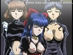 Hentai whores tied, humiliated & banged violently