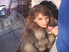 Chelsea in Fur Coat Sucks Dick