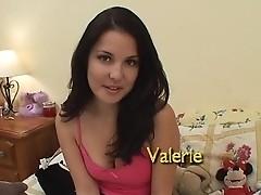 Valerie: dildo & swallow