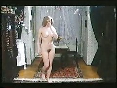 Horny blonde in vintage porn