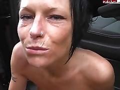 cumshot in a car