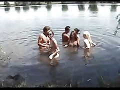 Group sex at the lake