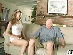 Sugar Daddy and Blonde Teen!