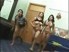indian college teenage babes nude dance in their hostel room