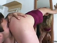 Stud blessed to ass fuck beautiful blonde chick