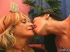 Karola and Nita Tiger in girl-on-girl fun