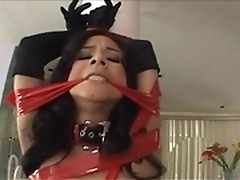 Tied Nadia Styles in submission hardcore scene