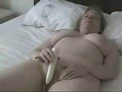 Big Titted Mature Mom Masturbating with a dildo