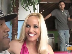 hot blonde MILF Tabitha gets hammered by a thick black dong