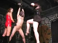 Dominatrix cbt balls torture