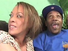 hot milf does anal with a black in the front of her son