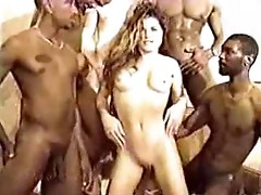 Sexy white girl gets knocked up by 10 guys