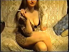 SAG - Brown Leo Dress & Bra Nice Tits & Legs High Heels 1o2