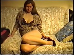 SAG - Brown Leo Dress & Bra Nice Tits & Legs High Heels 2o2