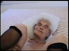 A very old slut enjoing my cock