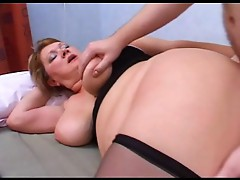 Chubby Mature in Stockings Anal Fuck