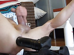 Cumming with Dildo in Ass