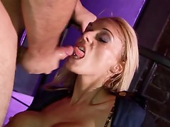 British blonde slut gets fucked as a cop