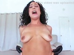 Brunnette with big boobs loves interracial fucking