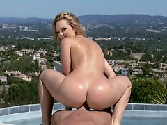 Drill Alexis Texas hard by the pool big boy