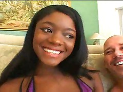 Hardcore blowjob made by ebony slut Midori