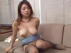 Busty Asian does all to please cock of her boss