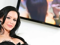 Dazzling Jenna Presley with big tits doing POV blowjob