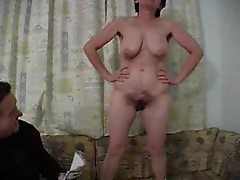 Mature bitch gets her face covered with hot cum