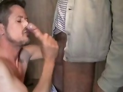 sucking cock load 5 men