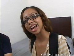 Cute Ebony Glasses Teen Girl