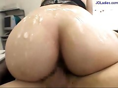 Office Lady In Black Lingerie Jelly On Body Riding On Guy Fucked Cums To Ass On The Desk In The Office