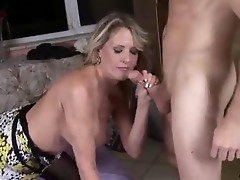 Milf mouthful of cum