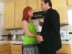 Hairy pussy in the kitchen
