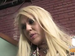 Sexy MILF Chennin Blanc goes black by a really huge fat dick