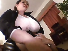 Japanese BBW Dominates a Guy (Huge Tits)