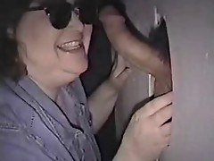 Chubby wife at GloryHole 1