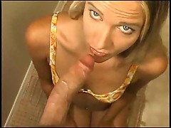Katilyn blows deep for facial