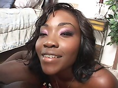 Hot Ebony smokin BJ