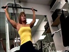 Milf muscle babe hardcore fucking and cumshots