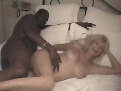 Mature blonde amateur wife and her black lover