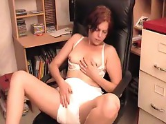 Secretary Plays With Her Diaper