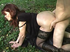 MILF Fucked Outdoors