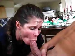 Mature cum sucker