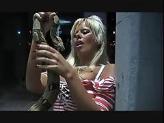snake bites blonde israeli Orit Fox tits