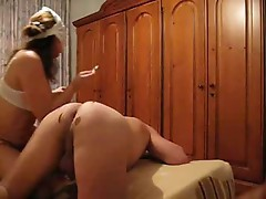 French wife satisfies his fetishes and gets creampied